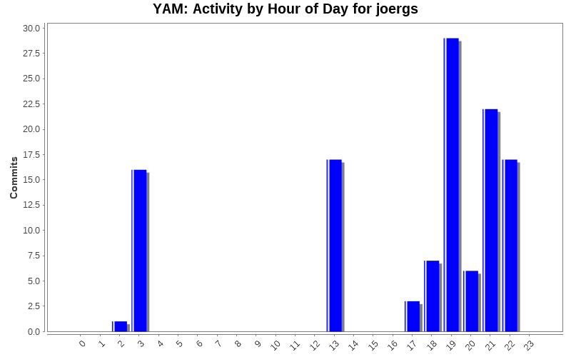 Activity by Hour of Day for joergs